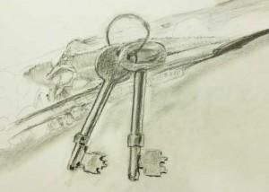 Detailed observational drawing - keys