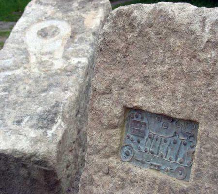 Gorton Reservoir public art - Bronze plaques