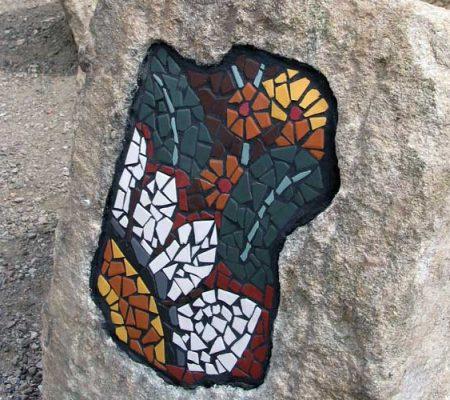 Gorton Reservoir public art - mosaic designs
