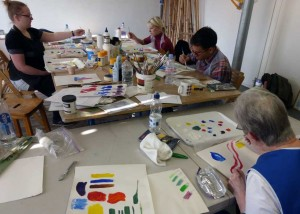 Learning about acrylic paints