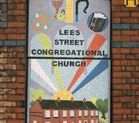 Mosaics - Lees Street Congregational Church. Community mosaic project