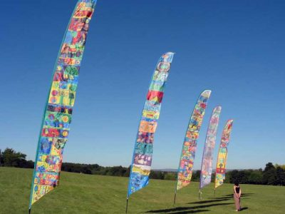 Manchester City Council - Sail banners, community festivals designed with school children.