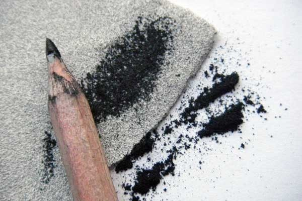 Use graphite dust for smudging in your drawings to create soft tones