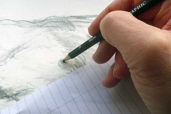 use scrap paper under your hand to prevent unwanted smudging of your drawing