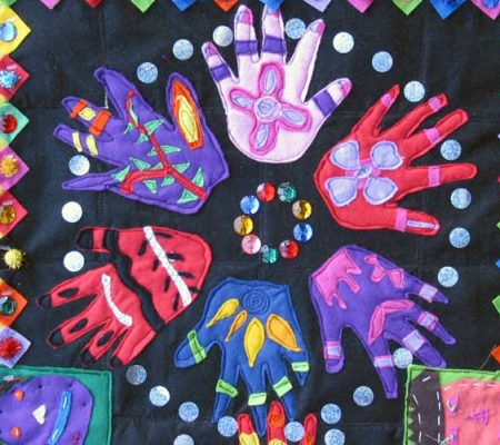 St Agnes primary - Felt applique wall hanging