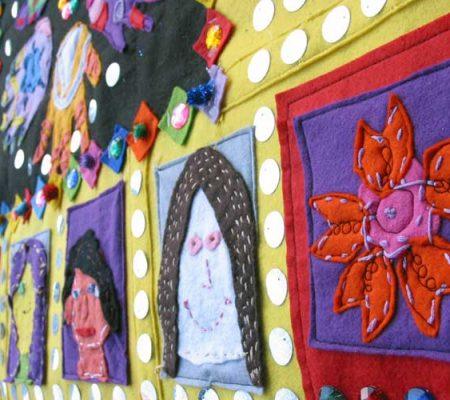 St Agnes primary - Felt applique wall hanging