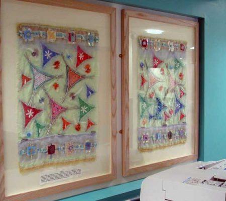 Art in Hospitals Stepping hill Hospital - Creative textiles and mixed media, schools workshops.