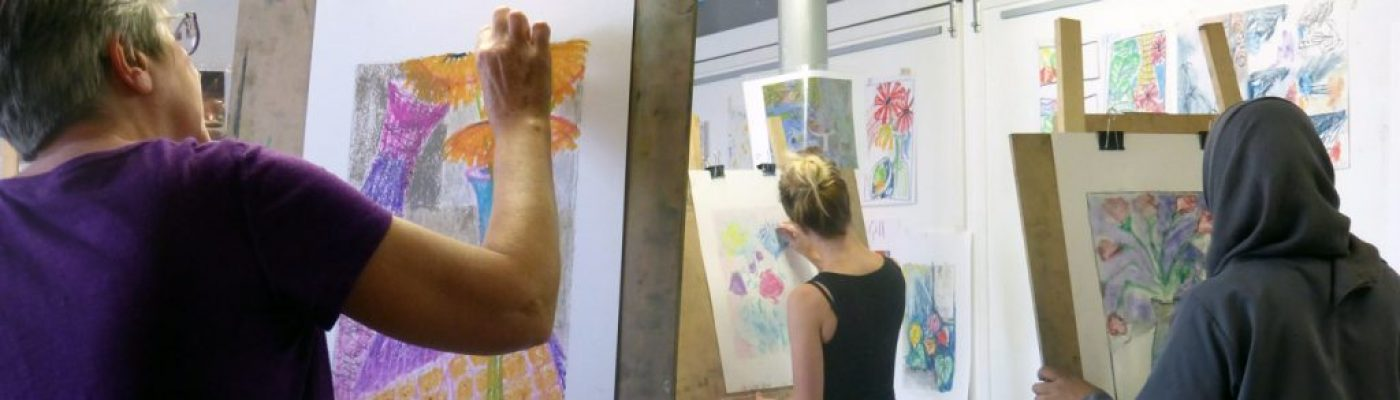Creative Art Courses, Ancoats, Manchester Students in studio