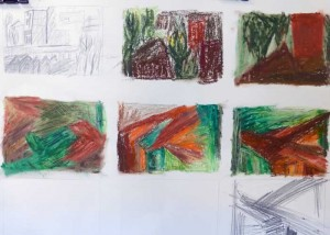 developing abstract ideas from observational drawing