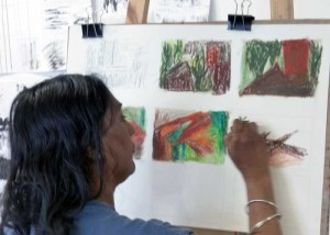 developing ideas for abstract-art
