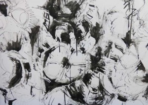 Experimental drawing in ink