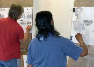 exploring mark making gestures