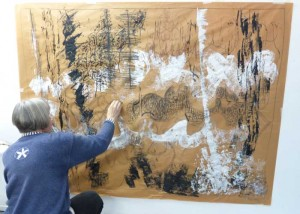 Large format drawings music and gesture
