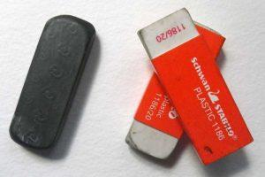Plastic vinyl eraser image