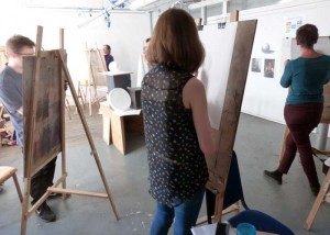 students drawing in studio 2